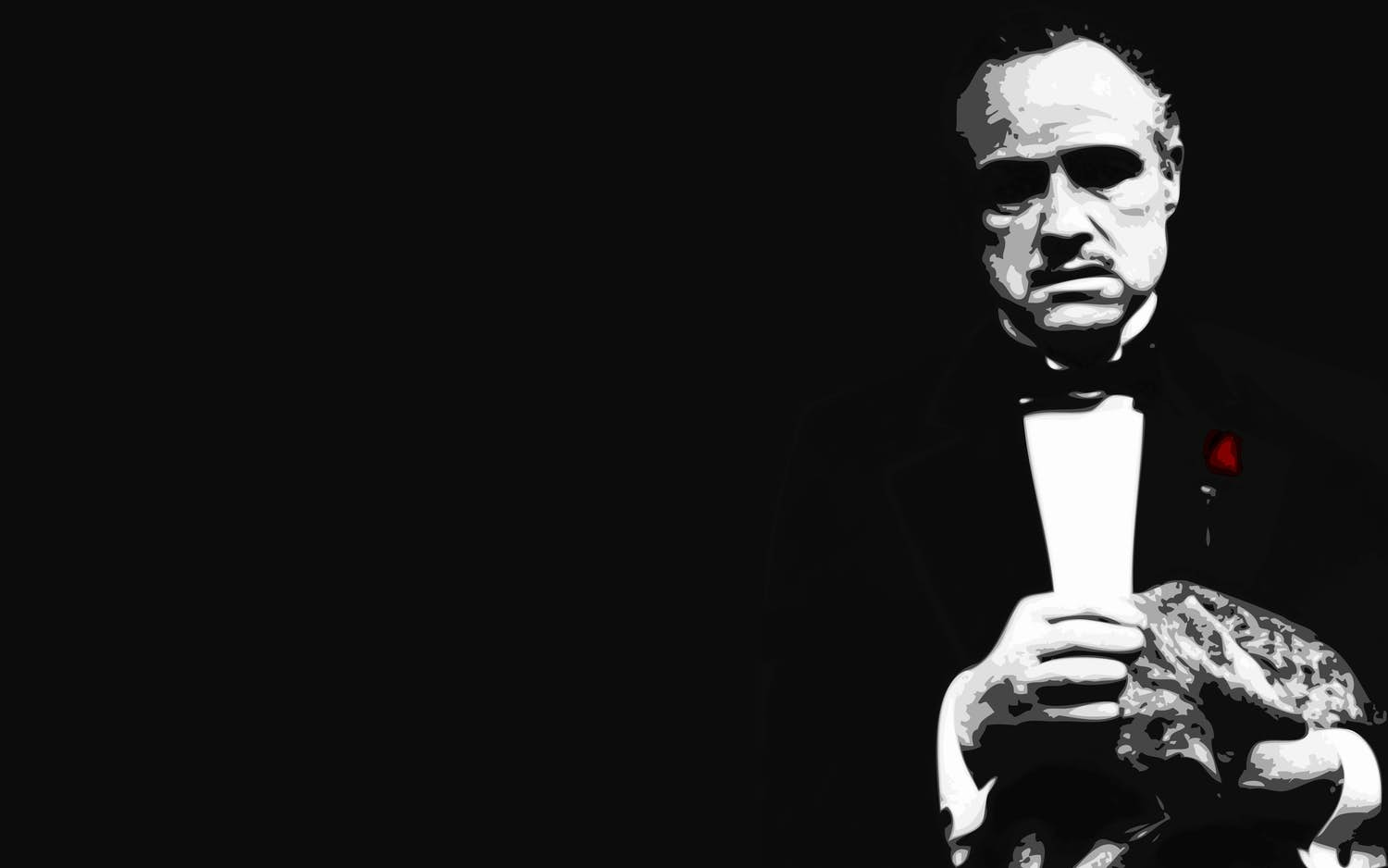 Wall mural The Godfather Photo wallpaper Black   Happywall 1500x938