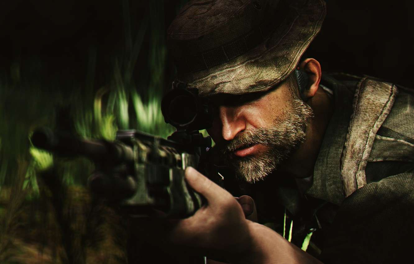 Wallpaper soldiers male beard activision Call of Duty Modern 1332x850