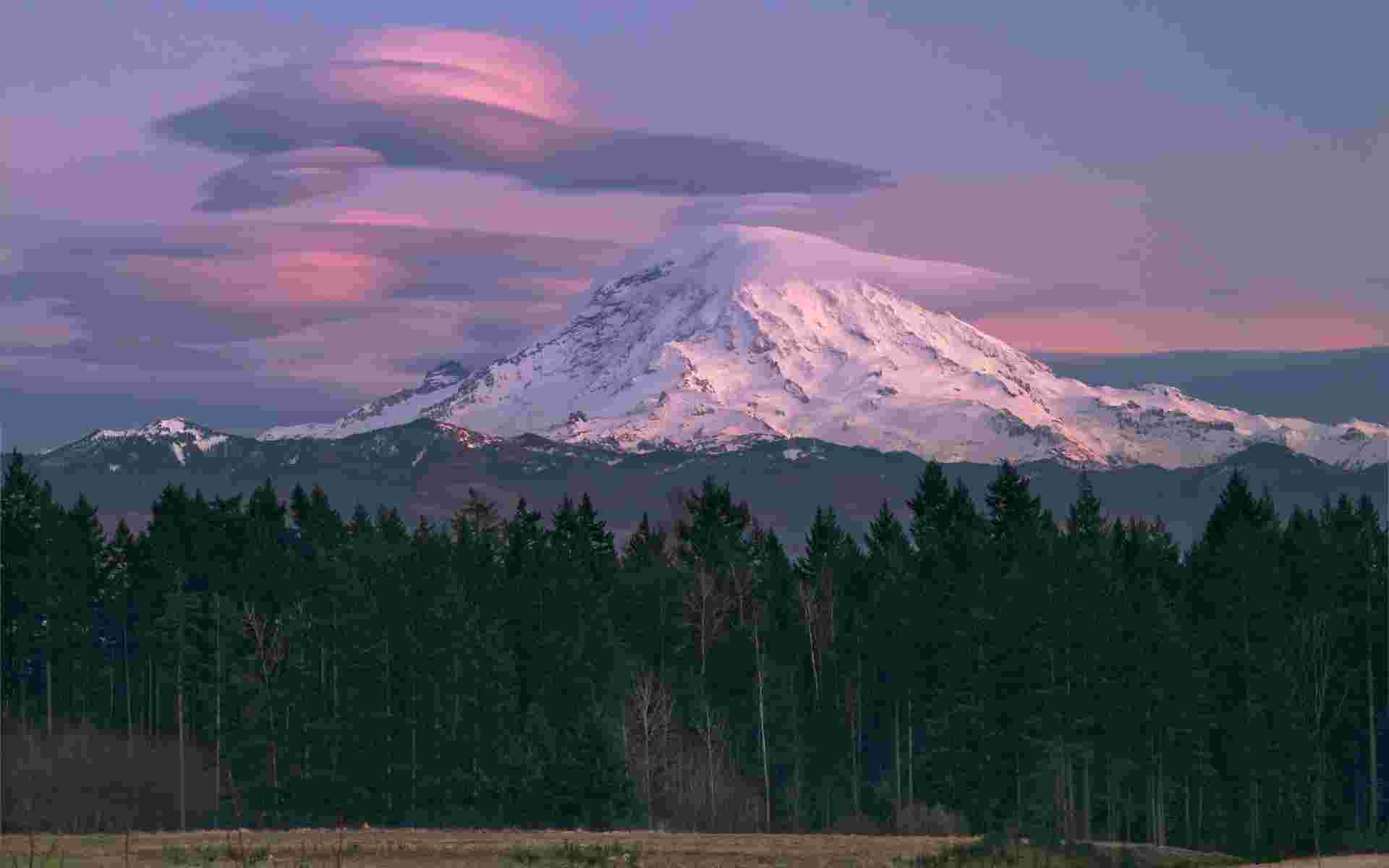 Mount Rainier Lenticular cloud wallpaper   Mountains   Nature 1920x1200