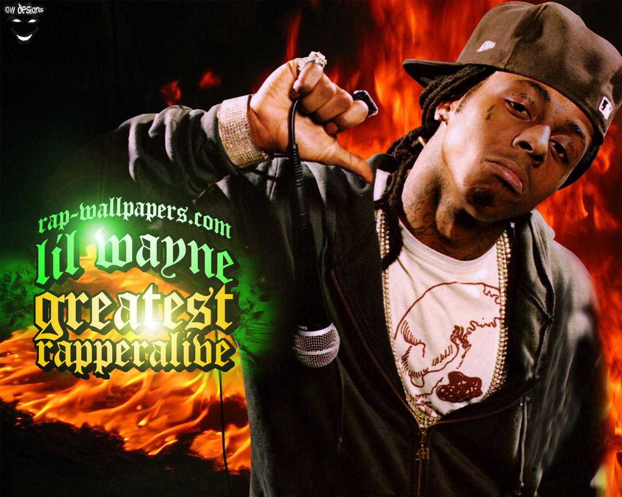 Lil Wayne Greatest Rapper Alive Rap Wallpapers 1280x1024