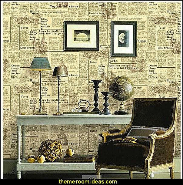 newsprint bedding   newspaper wallpaper   newsprint decor   newsprint 604x610