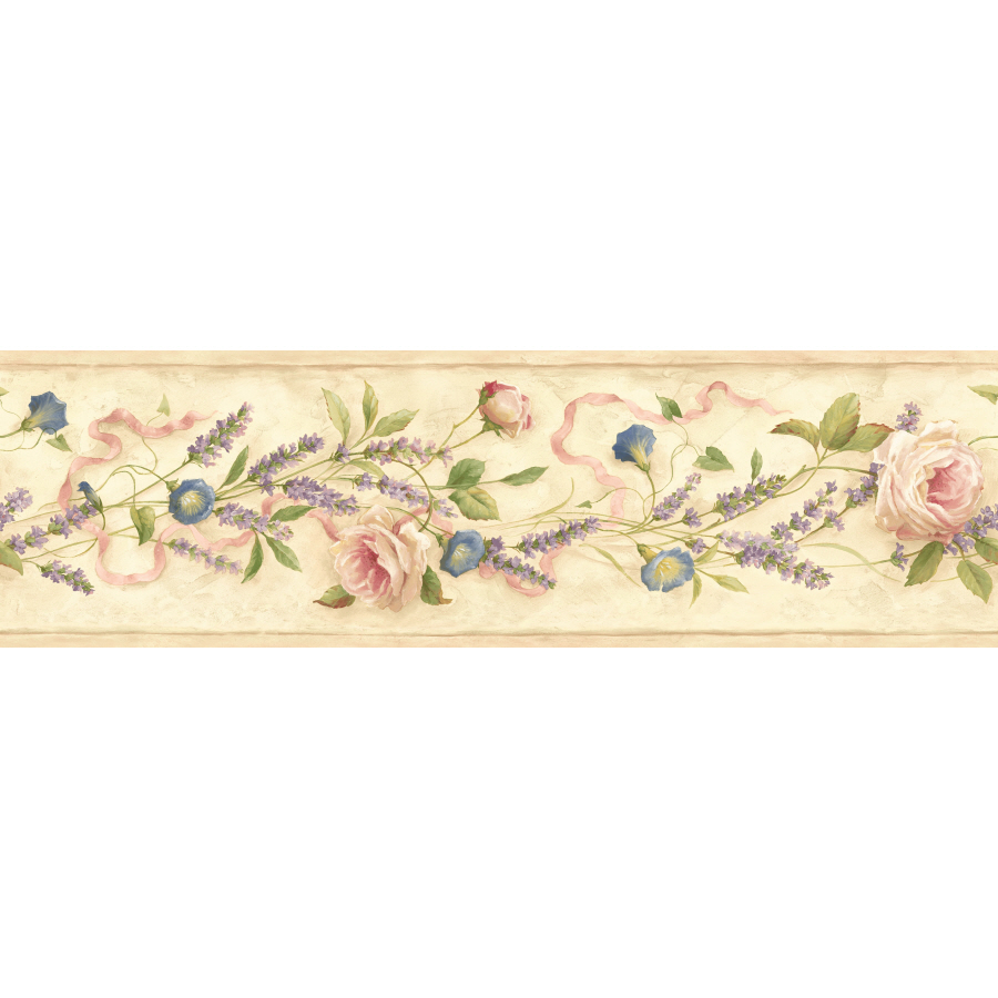 IMPERIAL 6 18 Floral Trail Prepasted Wallpaper Border at Lowescom 900x900