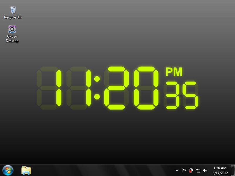 Digital Clock Wallpaper 100 download   Fading Digital Clock 800x600