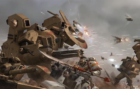 Warhammer 40k Tau Vs Space Marine Pics 596x380