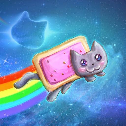 cat rainbow hd desktop wallpaper nyan cat rainbow boogaloo nyan cat 512x512
