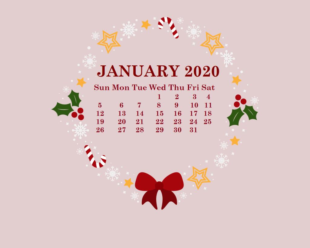 January 2020 HD Calendar Wallpaper Desktop calendar January 1024x819