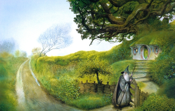 houses the hobbit jrr tolkien john howe the shire 1462x930 wallpaper 600x381