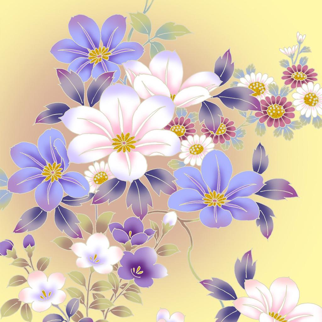 Vintage Floral Pattern Desktop Wallpaper wallpaper Vintage Floral 1024x1024