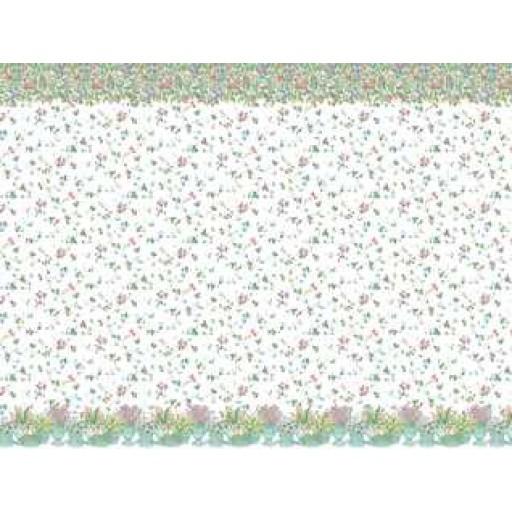 MINI GRAPHICS   1 Inch Scale Dollhouse Miniature   Wallpaper Spring 512x512