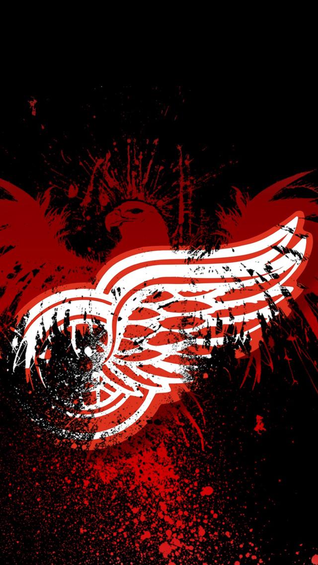 [48+] Red Wings iPhone Wallpaper on WallpaperSafari