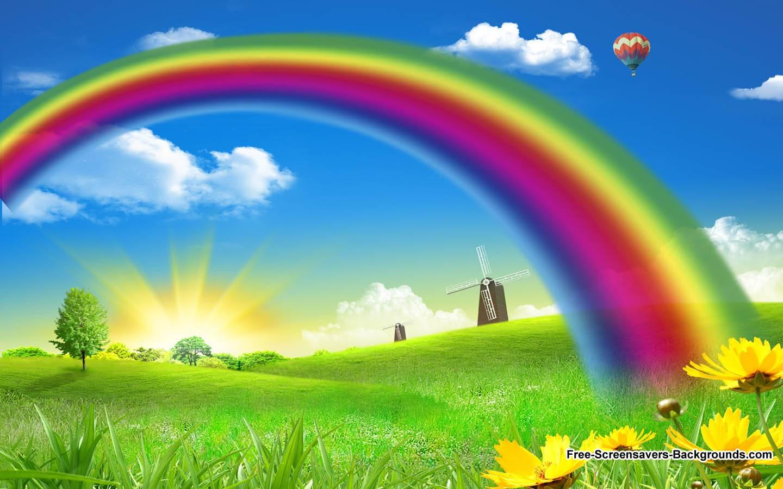 desktop wallpaper rainbows wallpapersafari