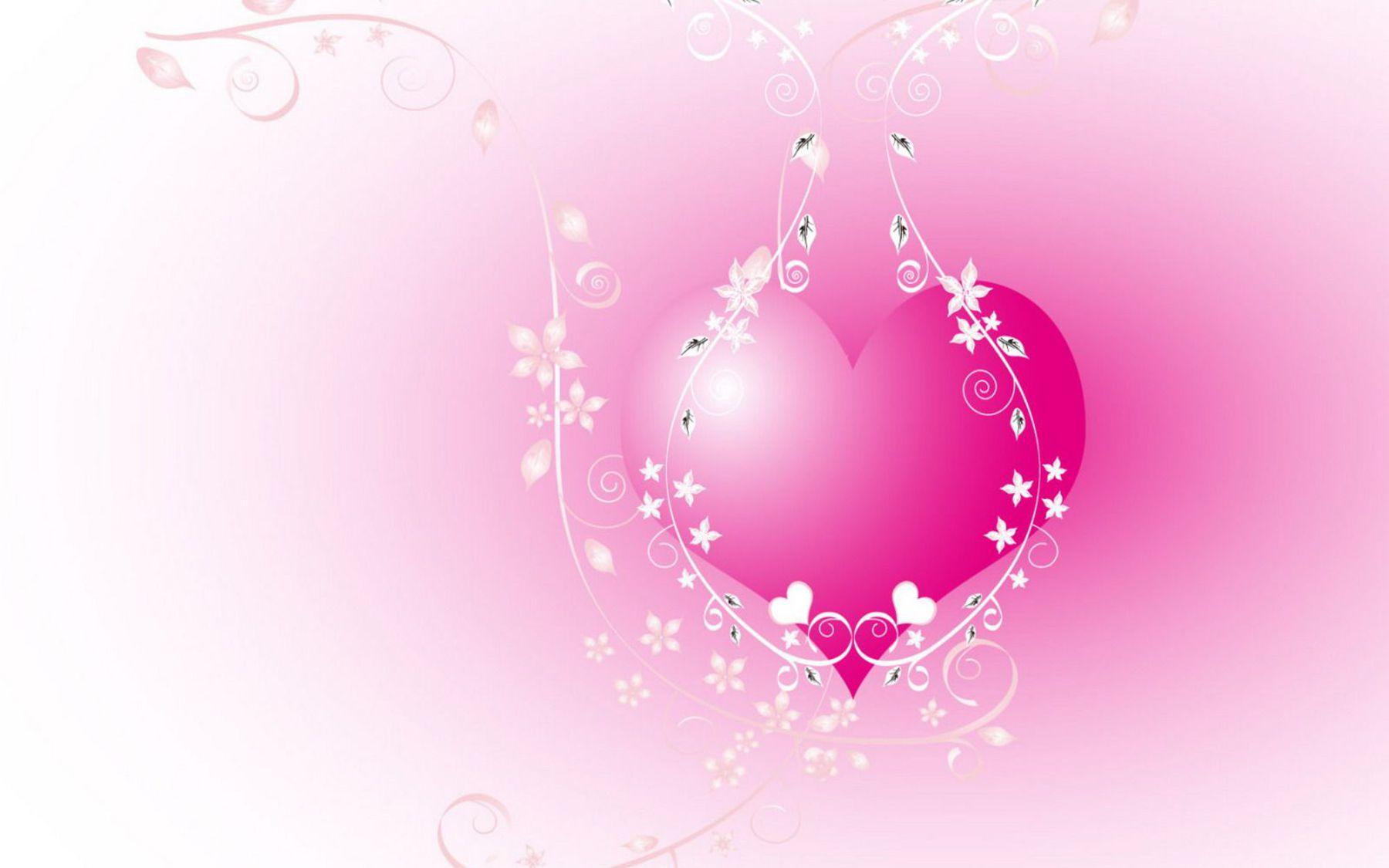 HD Wallpapers Charming 3D Valentines Day Heart Desktop Wallpaper 1800x1125
