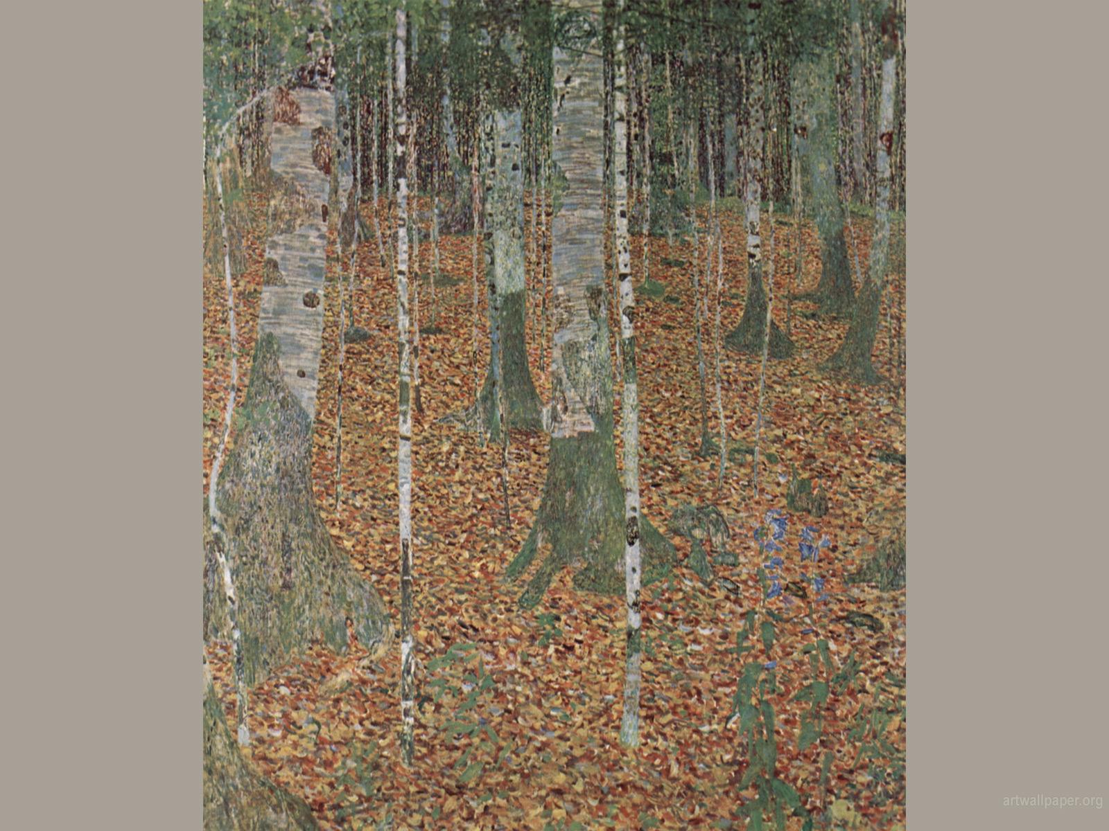 Birch Wood Gustav Klimt Wallpapers 1600x1200