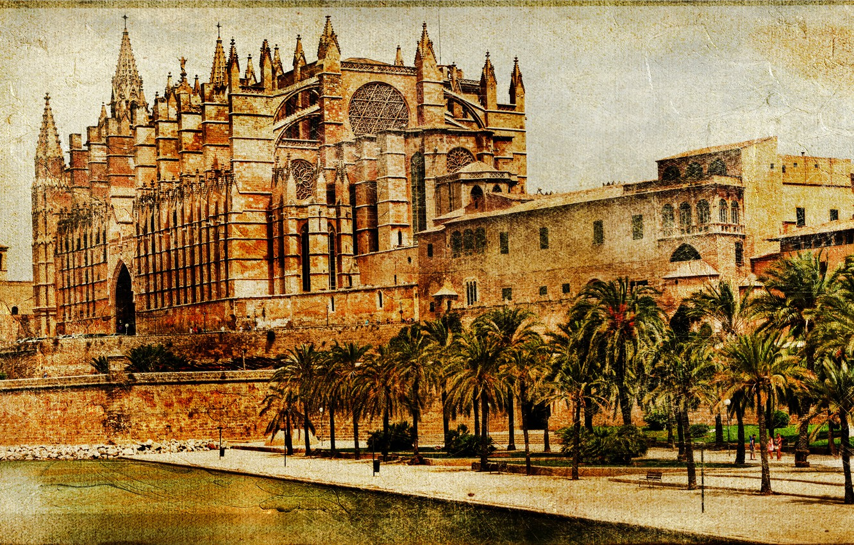 Wallpaper The city Spain Vintage Spain Palma de Mallorca 1332x850