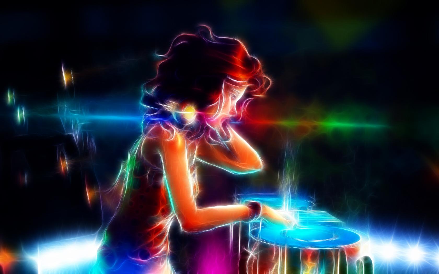 DJ Girl Fractal by Trosik on deviantART 1680x1050