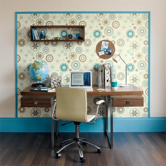 Define a workspace with wallpaper   Wallpaper ideas for living rooms. Wallpaper Idea   WallpaperSafari