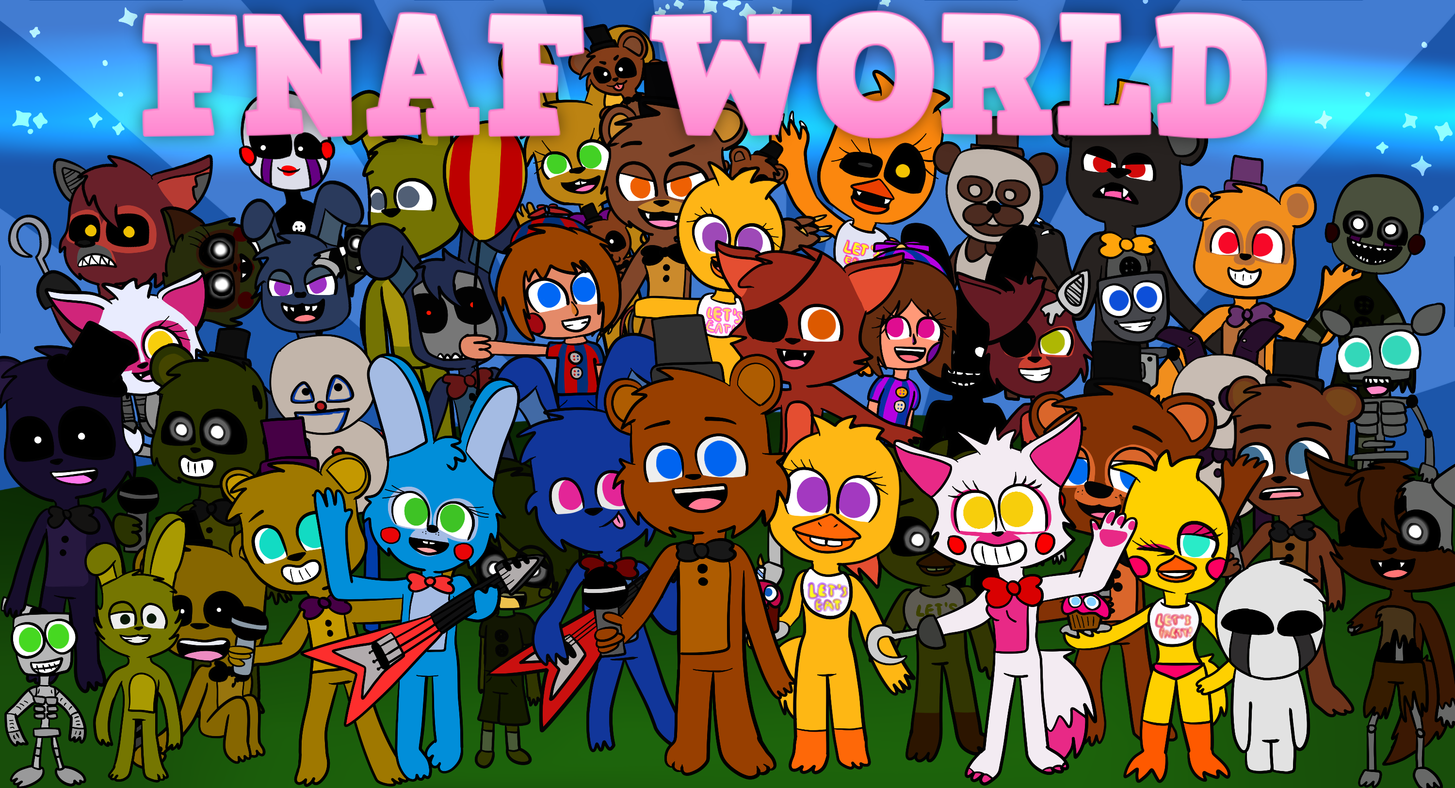 FNaF World thanks for 50 watchers by Lafergas 3000x1624