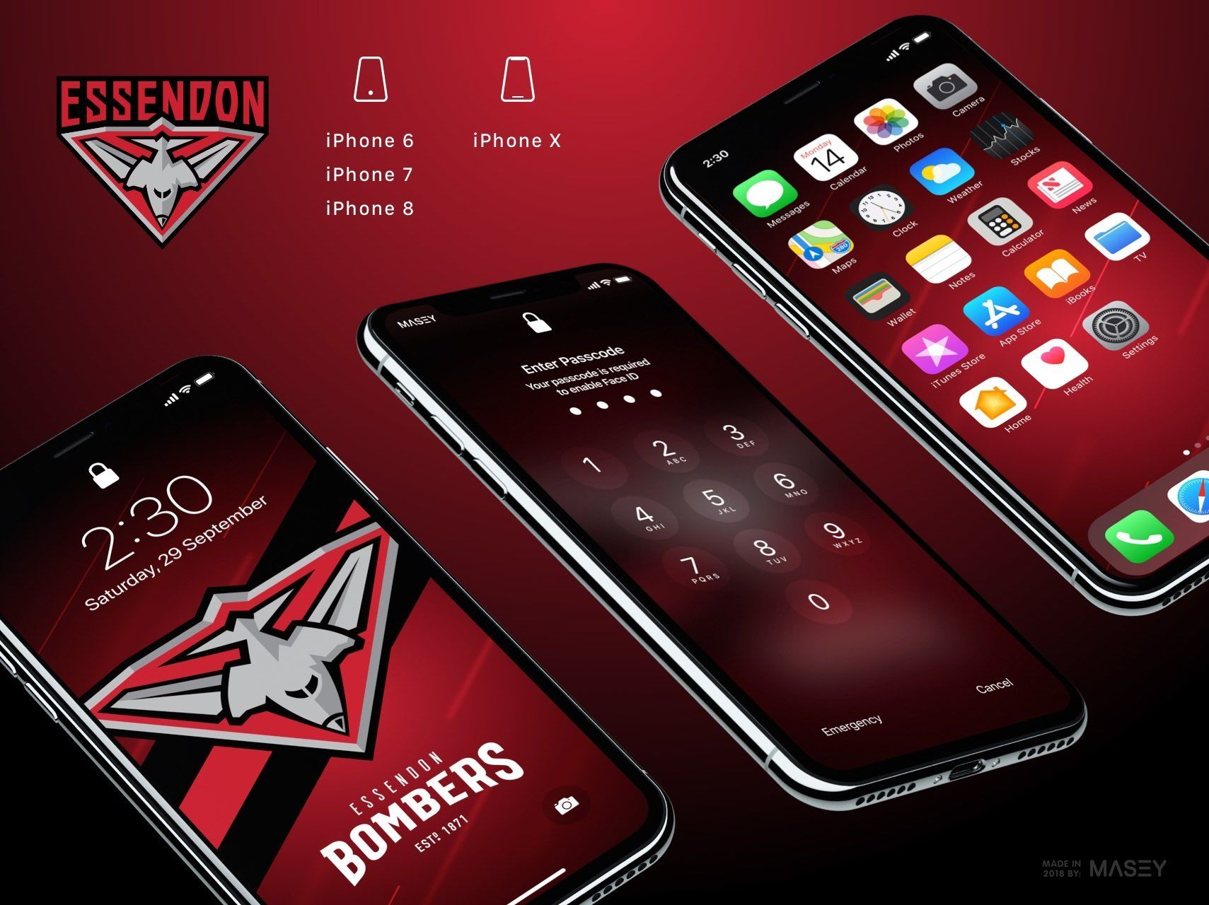 Essendon Bombers iPhone Wallpaper Screen Candy Iphone 1709x1280