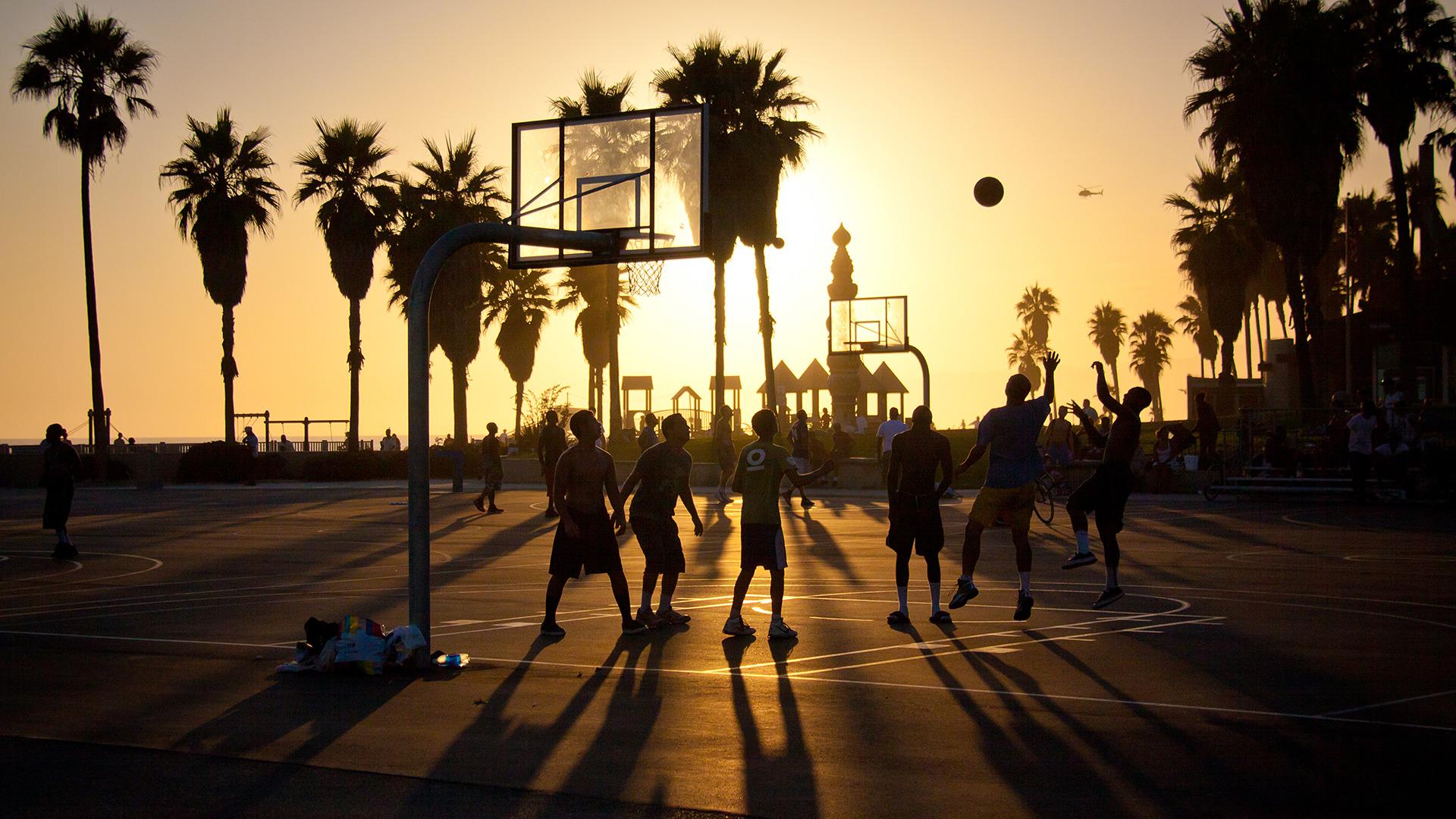 Download wallpaper summer california basketball sunset usa 1920x1080
