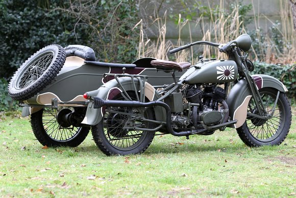 WW2 Military Motorcycles widescreen wallpaper 580x388