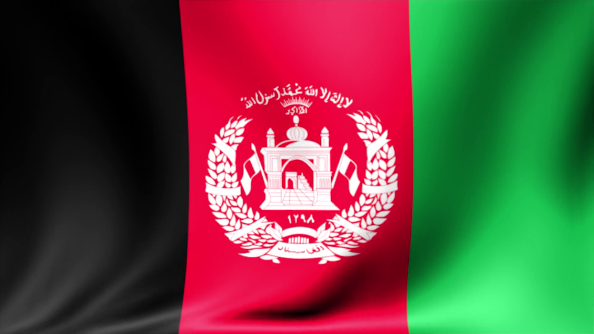 Afghanistan Flag Background Seamless Looping Animation 4K HD 1920x1080