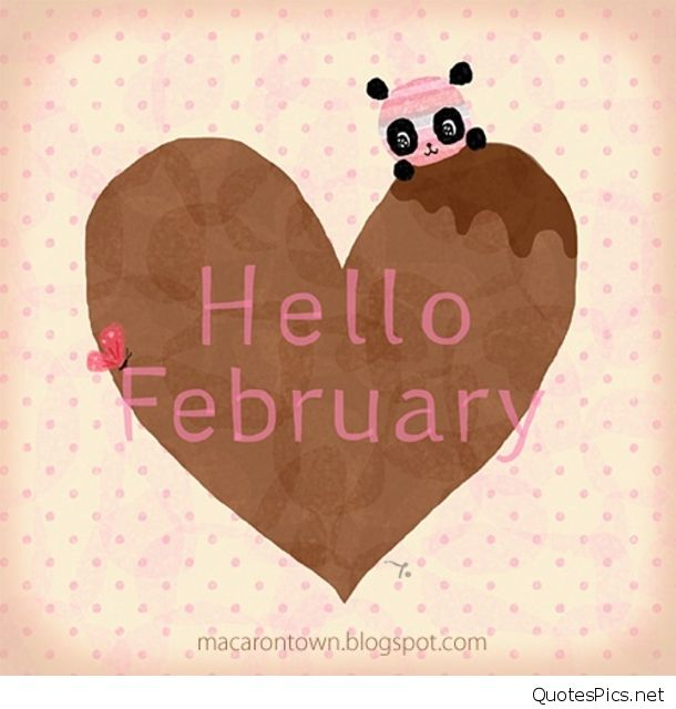 Funny Cute Hello February Images quotes and wallpapers 610x640