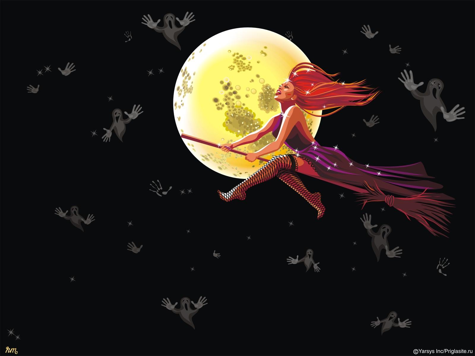 Happy Halloween 2012 Witch HD Wallpaper 1600x1200