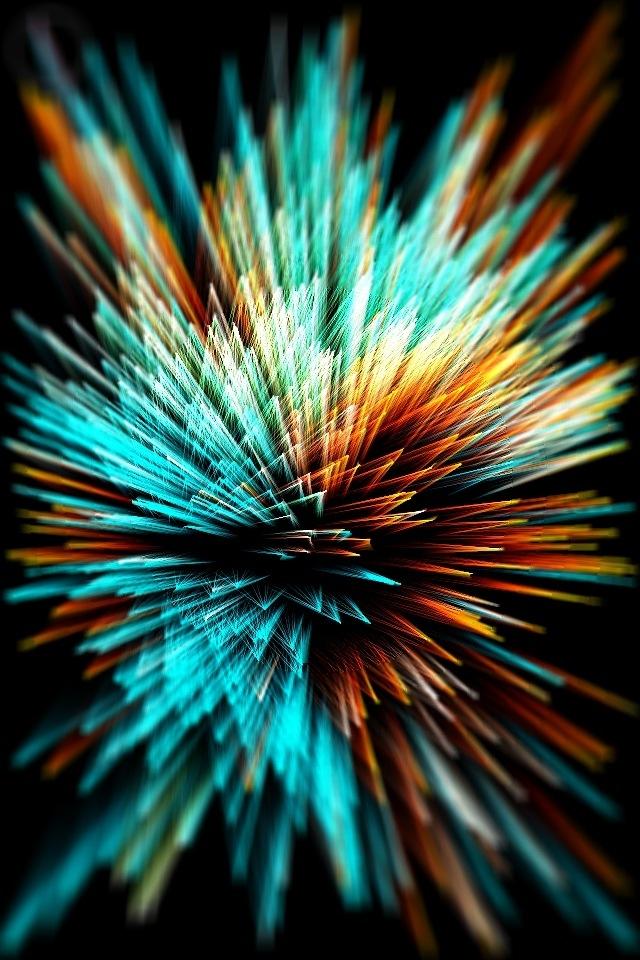 Bright Fireworks IPhone HD Wallpaper 640x960