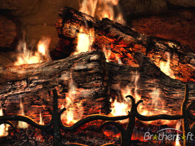 Fireplace 3D Screensaver Fireplace 3D Screensaver 11 Download 640x480