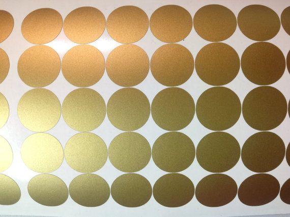 Peel and Stick Metallic Gold silver Polka Dot Wall Decalsnursery 570x426
