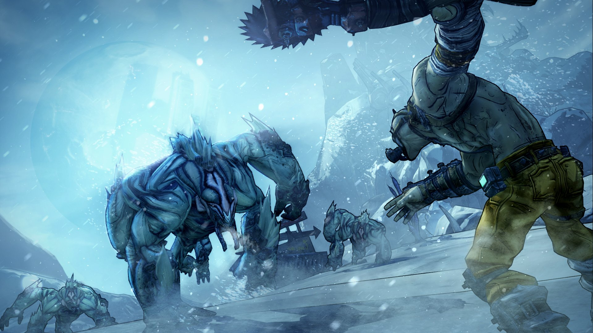 BORDERLANDS 2 Krieg the Psycho shooter sci fi action rpg wallpaper 1920x1080