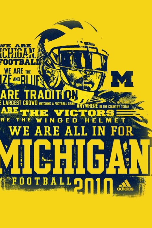 University Of Michigan Football Wallpaper For Iphone 4 640x960