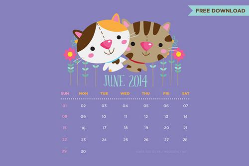 June 2014 desktop iPhone iPad Samsung Galaxy lock screen wallpaper 500x334
