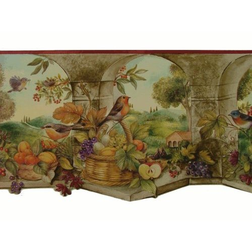 of Fruit Wallpaper Border Pattern Number KS76858DLL Home Kitchen 500x500