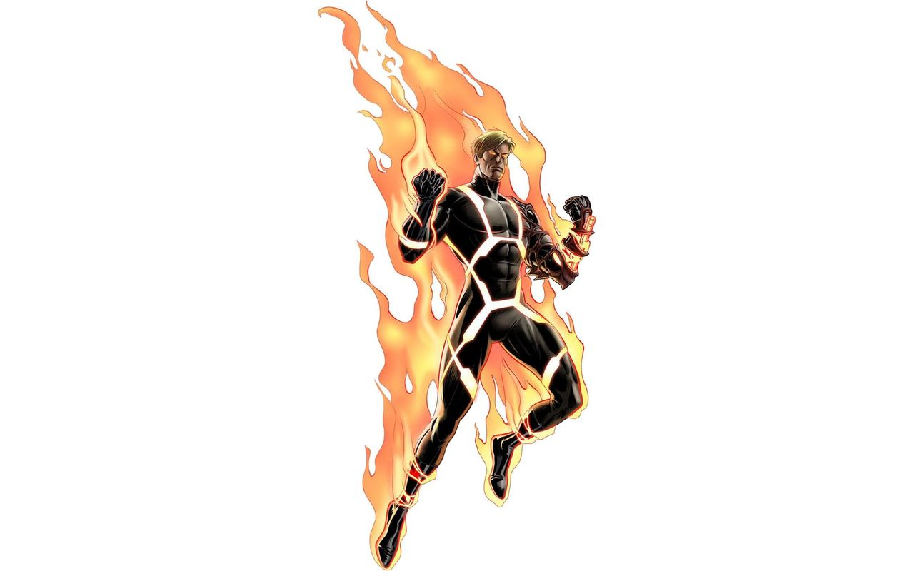 Human Torch on fire Widescreen Wallpaper   20414 1280x800