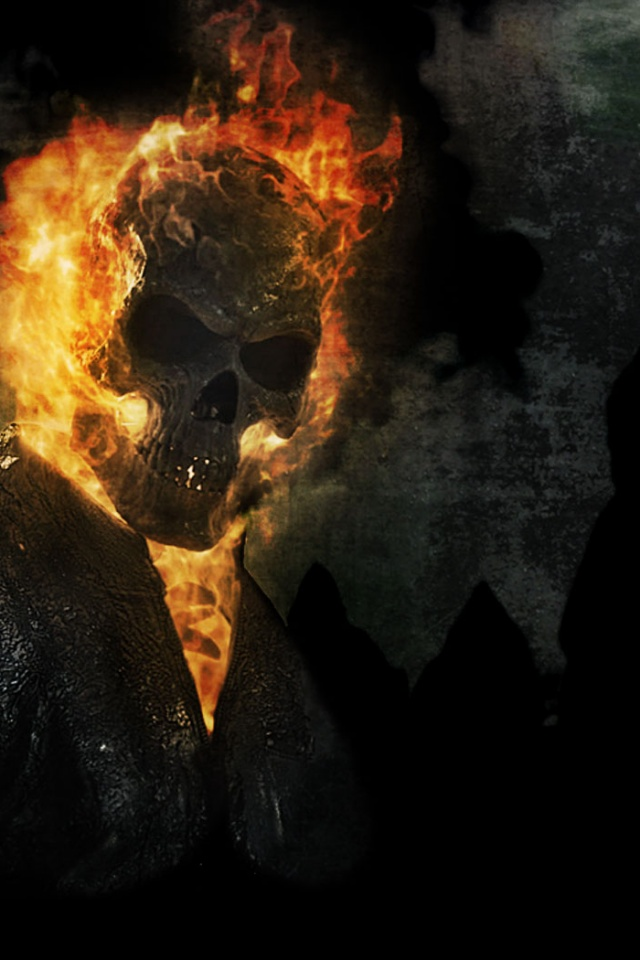 640x960 Ghost Rider Spirit of Vengeance Poster Iphone 4 wallpaper 640x960