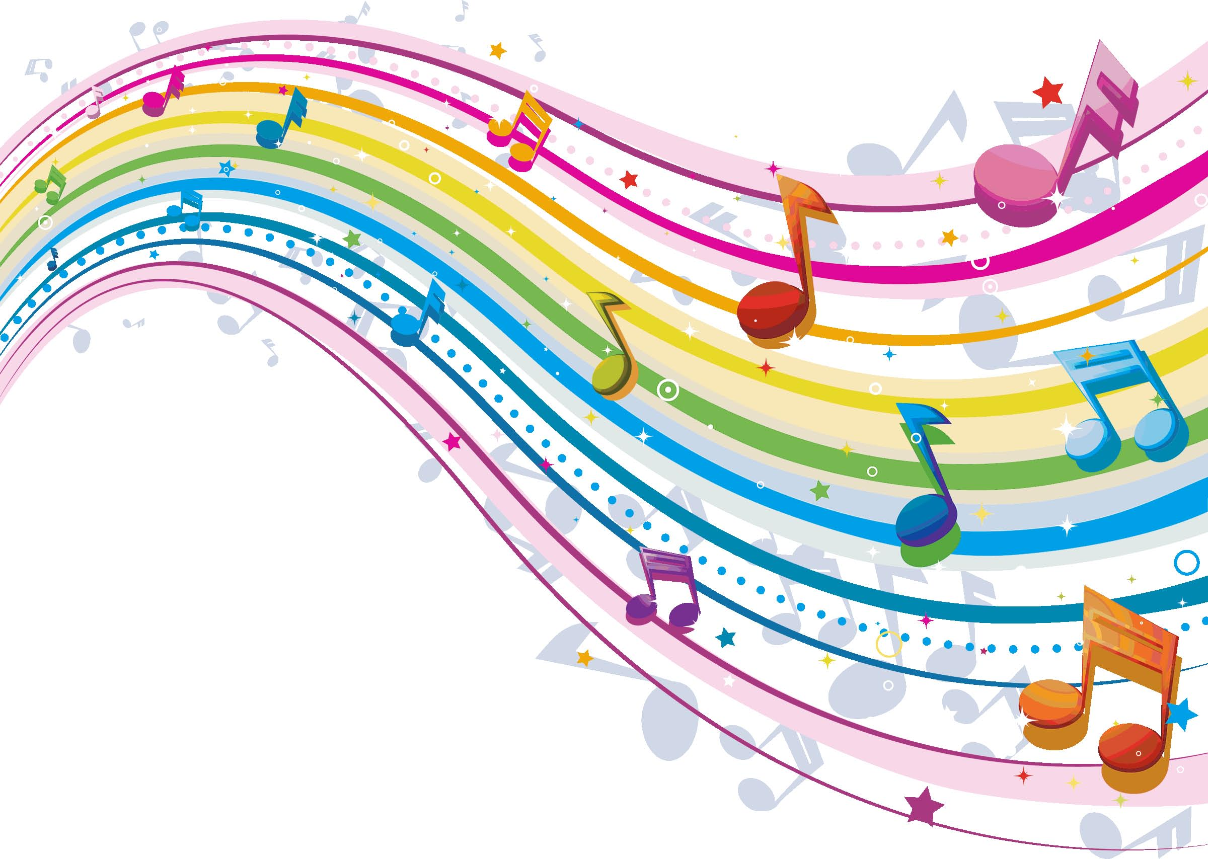 [43+] Colorful Music Notes Wallpaper on WallpaperSafari