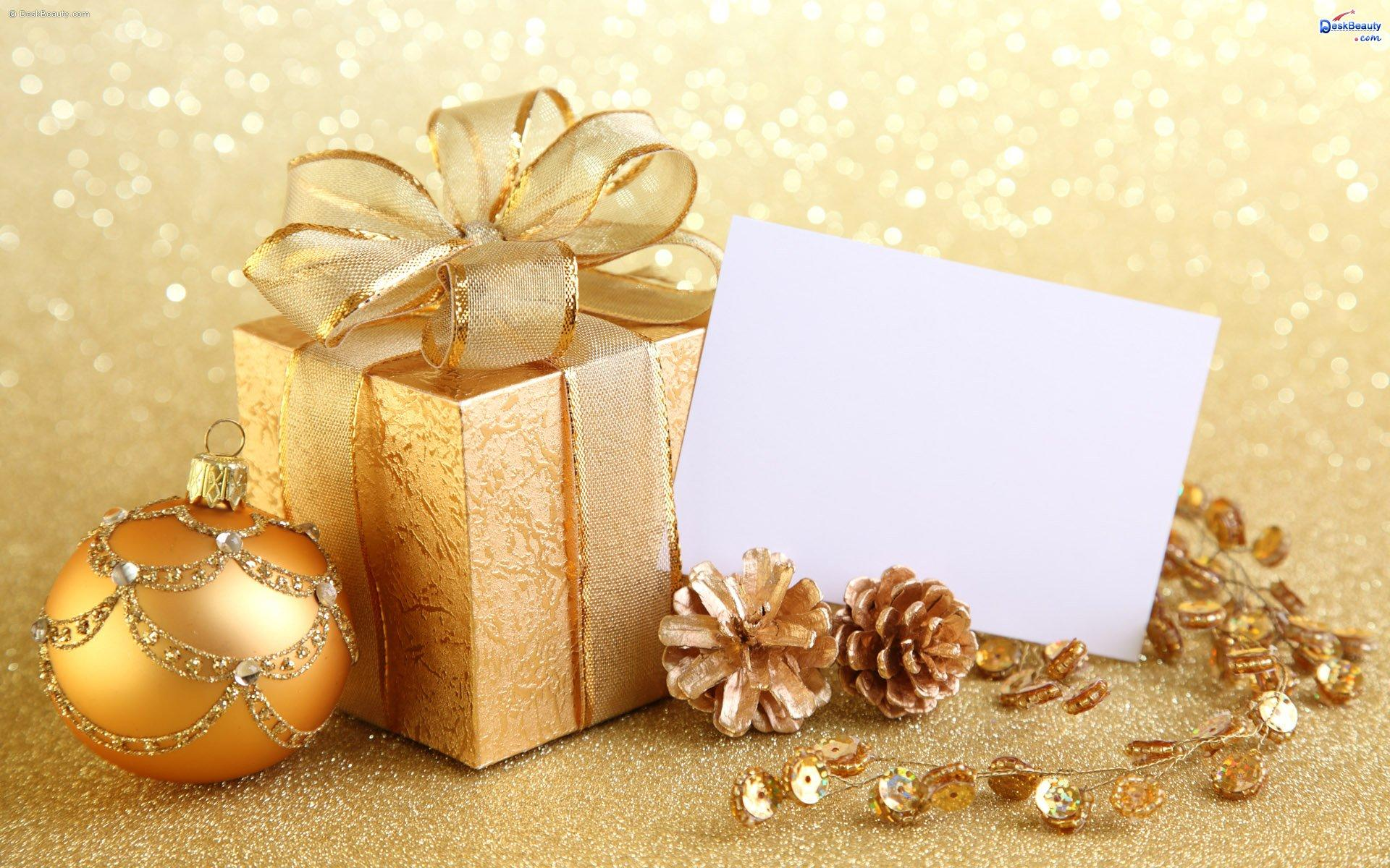 Christmas Card And Gift Wallpaper 1920x1200