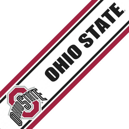 Ohio State Buckeyes Prepasted Wallpaper Border Roll Modern Wall Decals 500x500
