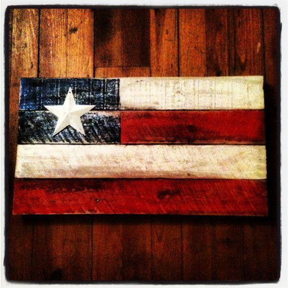 Rustic American Flag Wallpaper