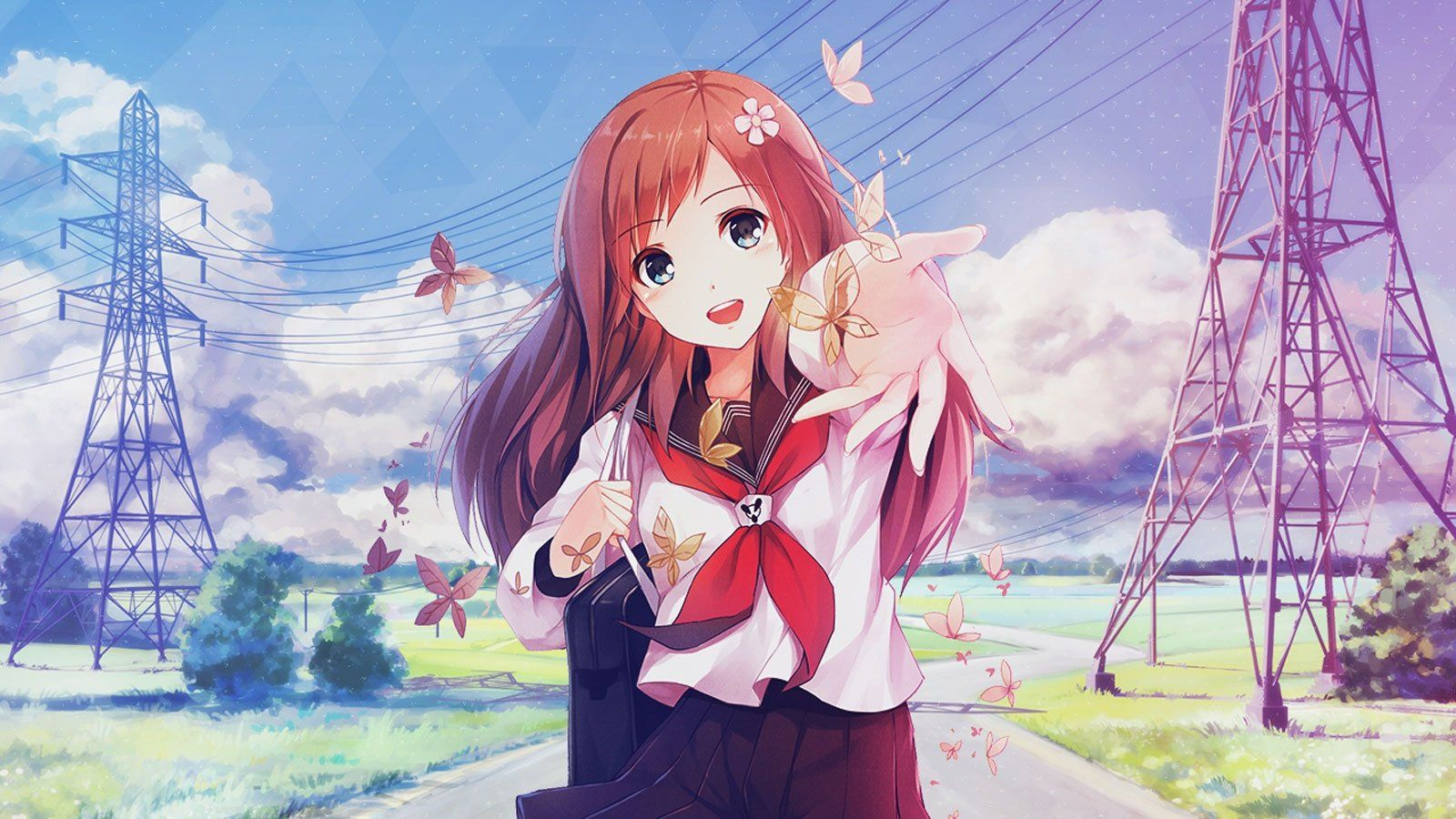 28 Cute Anime Girls Wallpapers On Wallpapersafari