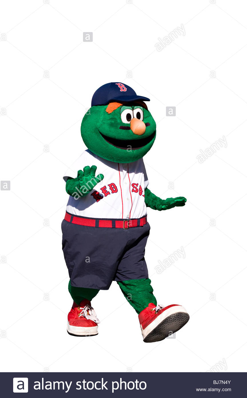 Cut Out Wally the Boston Red Sox Mascot on white background 863x1390