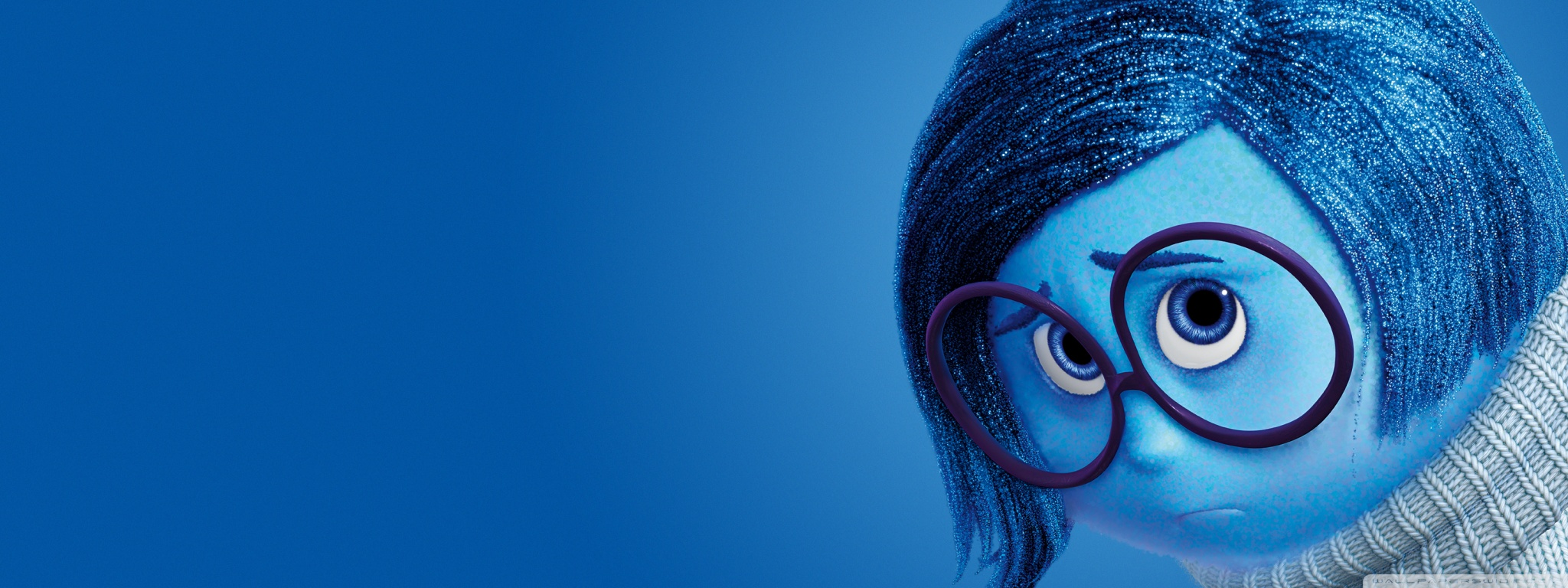 Inside Out Sadness   Disney Pixar 4K HD Desktop Wallpaper for 2048x768