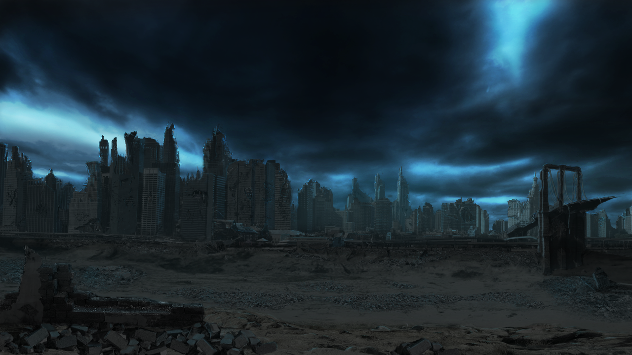 Destroyed City Backgrounds 1280x720