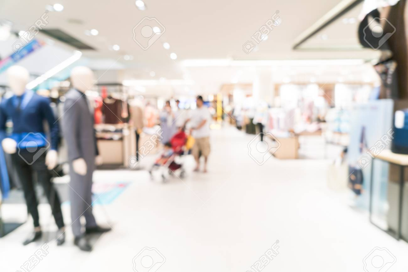 Abstract Blur Shopping Mall Background Stock Photo Picture And 1300x868