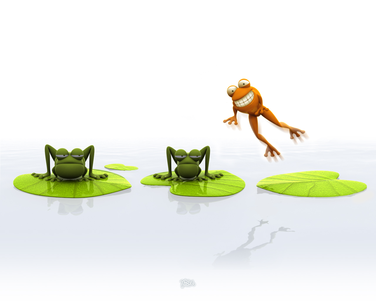 3D frog wallpaper is a great wallpaper for your computer desktop and 1280x1024