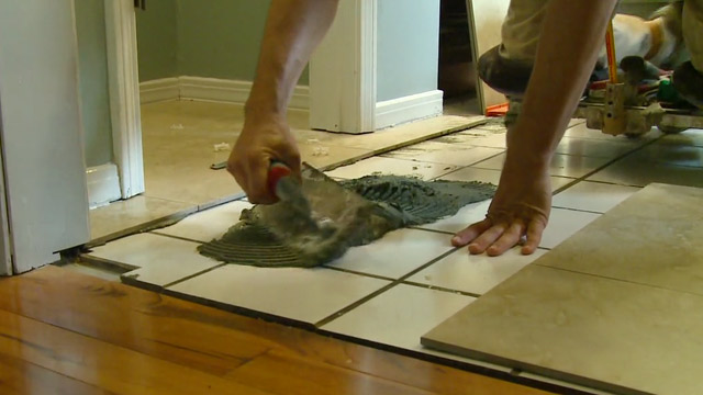 How to Lay Tile Over a Tile Floor Todays Homeowner 640x360