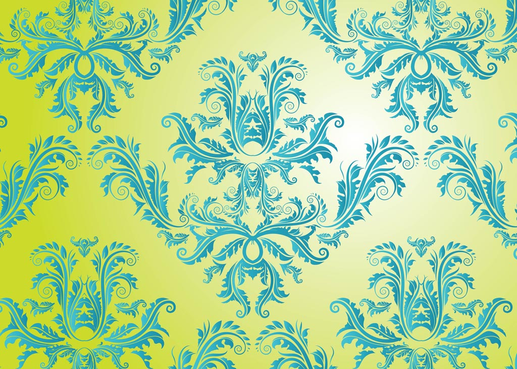 Damask Vector Pattern 1024x731