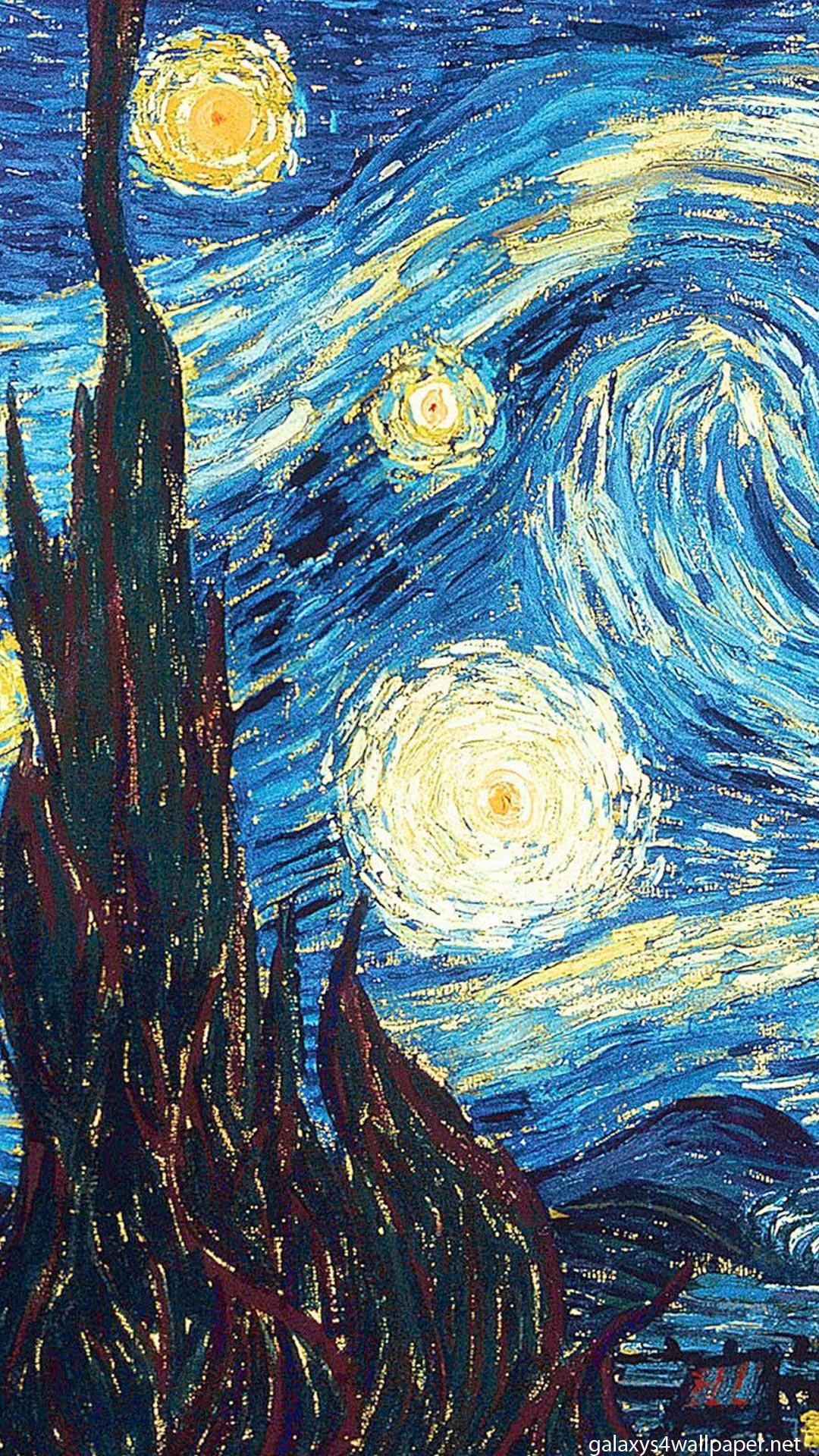 vincent van gogh galaxy s4 wallpaper hd wallpapers 1080x1920