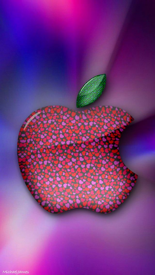 Download Little Hearts Apple 640 X 1136 Wallpapers   Apple Logo 640x1136